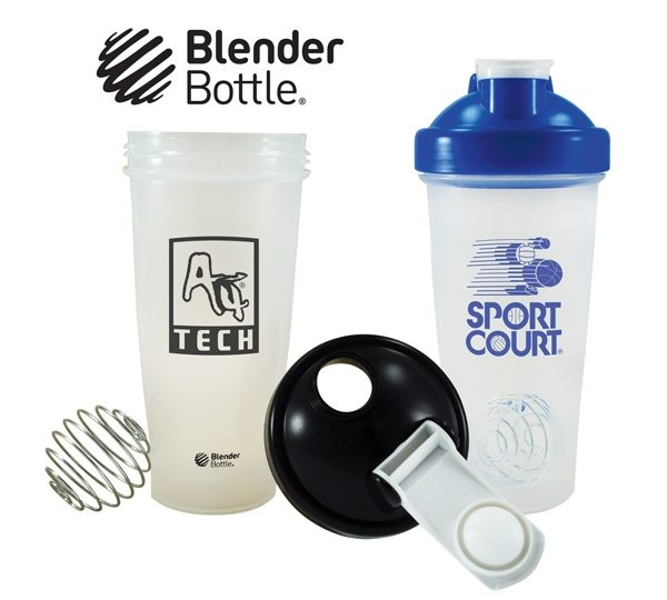 blender bottle in blue and black