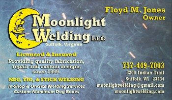 Moonlight Welding Business Card