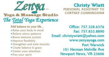 Zenya Yoga Business Card